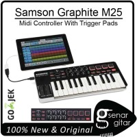 Samson Graphite M25 - Midi Controller 25 Keys With Trigger Pads