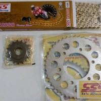 harga Gir Gear set girset gearset SSS Scorpio, rantai SSS gold SB Tokopedia.com
