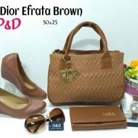 harga Tas Paket Sepatu 5in1 / Tas Wedges Boot Sandal 5 in 1 Dior Efrata Tokopedia.com