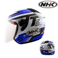 Helm NHK R6 Half Face R 6 Beyond White Blue Putih Biru