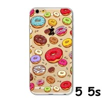 harga FOR IPHONE 5 5S - SOFT JELLY CASE RAINBOW COLORFUL DONUT DONAT CASING Tokopedia.com