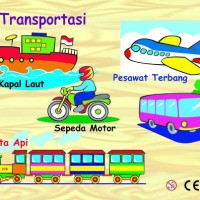 Jual Puzzle Alat transportasi mainan edukatif edukasi anak Kayu ape TK Paud Murah