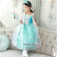 Jual KOSTUM FROZEN FLOWER Baju Pesta Dress Sayap Anak Import Elsa Branded Murah