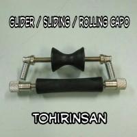 glider capo / sliding capo / rolling capo gitar
