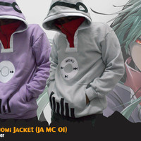Jaket Anime Mekaku City Kido Tsubomi Cosplay Jacket Hoodie (JA MC 01)