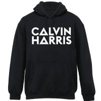 JAKET HOODIE DJ CALVIN HARIS HITAM BLACK - SWEATER MUSIC