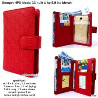 Dompet  wanita HPO Alexia GC kulit 1 HP 5,8 inci-merah