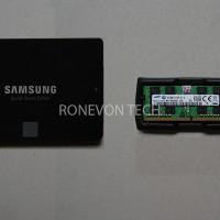 SAMSUNG 850 EVO 120 GB + SODIMM SAMSUNG DDR4 16GB PC2133
