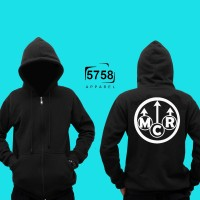 Hoodie Zipper Mcr My Chemical Romance Lgo #1