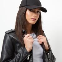 topi basebal hitam polos baseball black felti hat import