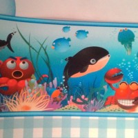 Wallpaper dinding Border Kamar Anak Motif Binatang Laut Ikan Gurita