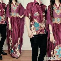 harga busana muslim couple kaftan anggun purple ungu sarimbit batik Tokopedia.com