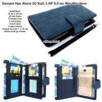 dompet hpo alexia gc kulit 1 hp android 5,5 inc mini blue navy