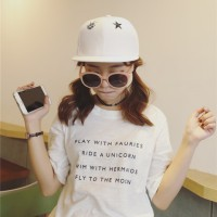 Kaos Baju Fashion Wanita Shirt Kemeja Blouse Atasan Korea New 2015232