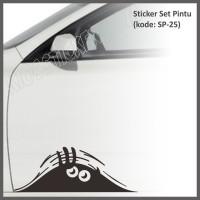 harga Sticker Pintu mobil 25 Monster Intip Lucu Tokopedia.com