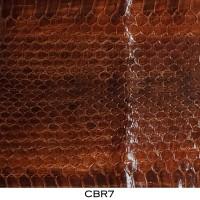 Bahan Kulit Ular Air / Cobra Asli Coklat Tua CBR7