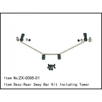 ZX-0095-01 Caster Racing REAR SWAY BAR KIT INCLUDING TOWER 1/8 buggy