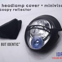 cover headlamp model ducati monster pakai lampu scoopy