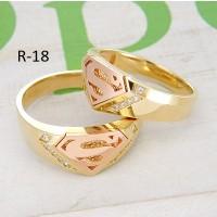 cincin emas lapis combinasi warna untuk tunangan cosutm superman