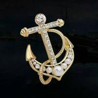 Bros jangkar brooch anchor bross jangkar kapal
