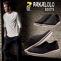 Sepatu PAKALOLO 6553 A Hitam | Slip On Pacalolo Import Ori Murah