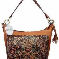 harga tas kulit sapi batik Tokopedia.com