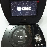 "GMC DIVX-808R-TV 7"" Portable DVD Player - Hitam"