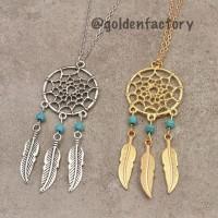 Jual [268] Dreamcatcher Necklace Kalung Import Bagus Lucu Unik Pesta Murah Murah