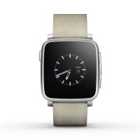 Pebble Time Steel Smartwatch - White