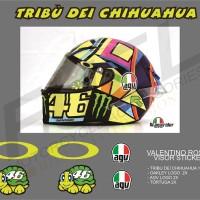 Sticker/Stiker Visor Helm - 46 Valentino Rossi