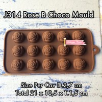 J314 Rose B Choco Mould cetakan silicone coklat jelly mawar baking es