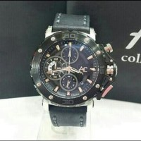 Jam Tangan Alexandre Christie AC 9205 Mc Black Leather