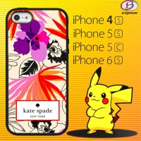 Casing/Cover Hp iPhone 4, 5, 5c, & iPhone 6 Kate Spade Floral Pattern