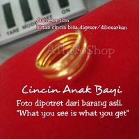 Gold Baby Ring / Cincin EMAS Anak Bayi model 3 lilitan
