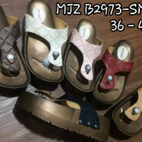 harga mjz b2973-smuj sendal sandal jepit wedges karet tikar jelly bara bara Tokopedia.com