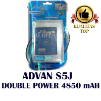 Baterai Batrai Batre Advan Vandroid S5j S5-j Battery Double Power