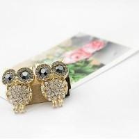 Jual anting burung hantu berlian / full diamond owl earrings JAN034 Murah