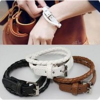 gelang kulit / buckle leather bracelet JGE019