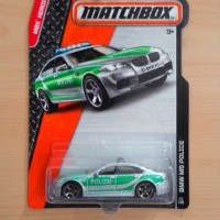 MATCHBOX BMW M5 POLICE GREY GREEN MBX HEROIC RESCUE 2015 #53/120