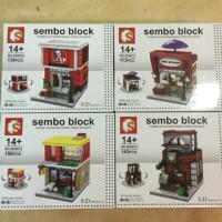 Lego Kw Sembo Block Mini Modular 4 in 1 KFC,Haagen Dazs,McD & Starbuck