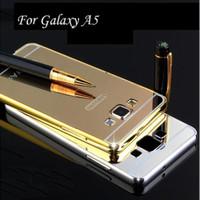 Samsung A5 versi 2015 Bumper Hard Case Mirror Aluminium With Ba