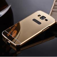 Samsung Galaxy E5 Bumper Hard Case Mirror Aluminium With Back Case Pc