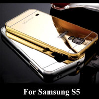 Samsung Galaxy S5 Metal Bumper Mirror Back Cover Casing Case