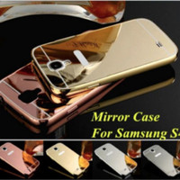 Samsung Galaxy S4 Metal Bumper Mirror Back Cover Casing Case
