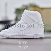 Sepatu Sport Wanita Senam Nike Dunk Sky Hi Sneaker Wedges RSNI