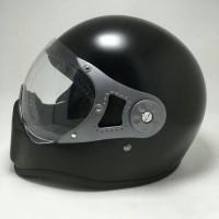 harga Helm Cakil Pilot Visor Black Doff & Glosy Tokopedia.com
