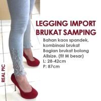 harga Legging Import Brukat Samping Tokopedia.com