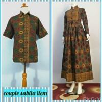 harga Baju Batik Couple Gamis Sabila Hitam, Busui, Untuk Formal dan Casual Tokopedia.com