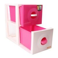 CLARIS Laci Susun, Pink - DUO CABINET - 2 Susun