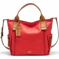 Tas Fossil Emerson Satchel Large Tomato
